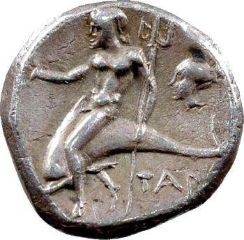 Calabre, didrachme, Tarente, c.272-240 av. J.-C.