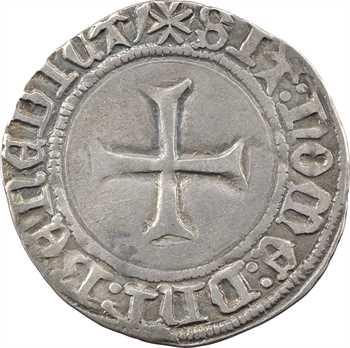 Bretagne (duché de), Jean V, blanc à la targe, Rennes