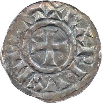 Au nom de Charles empereur (le chauve ou le Gros), denier, fin du IXe s., Arles