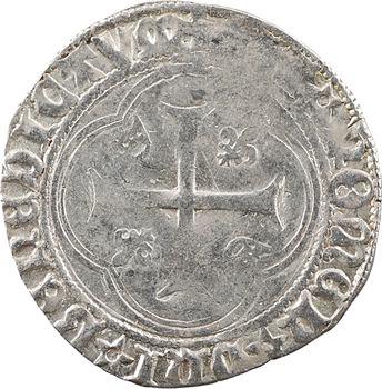 Charles VIII, blanc à la couronne (molettes/molettes et REX:), Châlons-en-Champagne