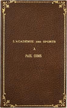 Aviation : diplôme de l'Académie des Sports à Paul Codos (record du raid New York-Rayak), 1933