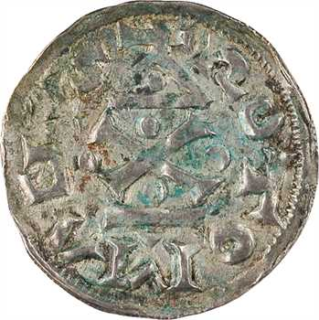 Normandie (duché de), Richard Ier, denier au temple, s.d. (943-996) Rouen