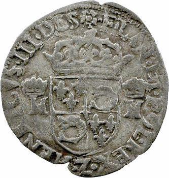 Henri III, douzain du Dauphiné aux 2 H couronnées, 1575 Grenoble