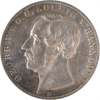 Allemagne, Hanovre, Georges V, double thaler, 1866 Hanovre