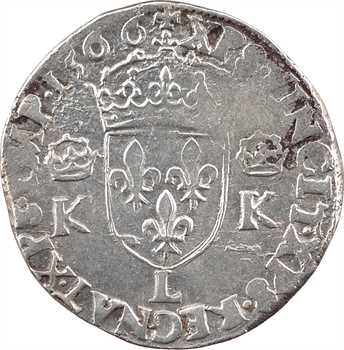 Charles IX, teston 4e type, 1566 Bayonne