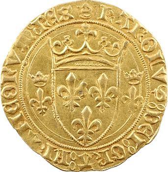 Charles VII, écu d'or à la couronne 3e type, 2e émission, Châlons-en-Champagne