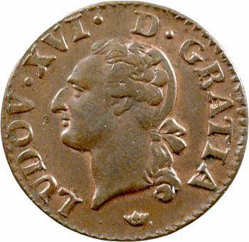 Louis XVI, liard de bronze, 1790 Toulouse