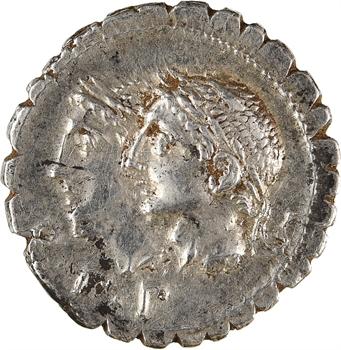 Sulpicia, denier serratus, Rome, 106 av. J.-C