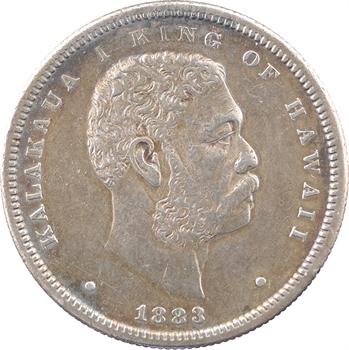 Hawaï, Kalakaua I, 1/2 dollar, 1883