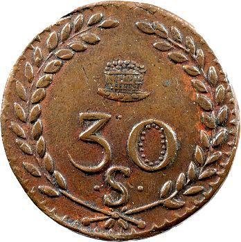 Louis XVIII, Mines d'Aniche, 30 sols, 1820
