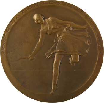 Saulo (M.) : Association Léopold Bellan, tournois de tennis Messieurs, 1929 Paris