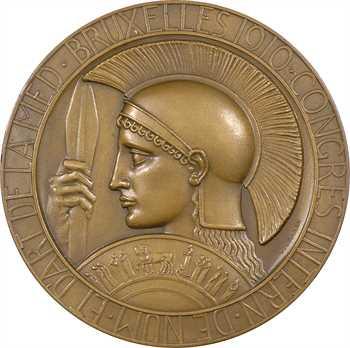 Belgique, hommage à Babelon, par Devreese, 1910 Bruxelles