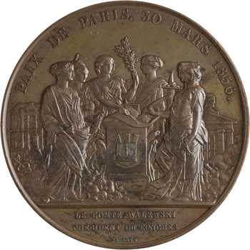 Second Empire, Traité de Paris, le comte Walewski président du Congrès, 1856 Paris