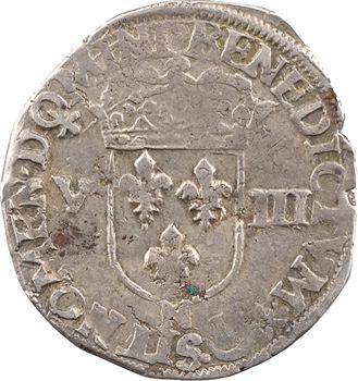 Henri IV, huitième d'écu, croix feuillue de face, 1603 Montpellier