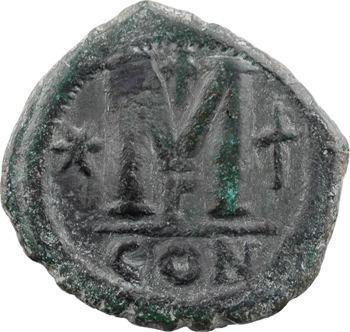 Justinien Ier, follis, Constantinople, 3e officine, s.d