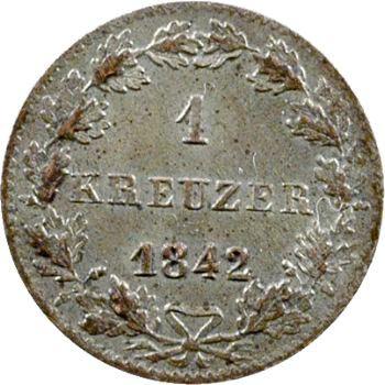 Allemagne, Francfort, 1 kreuzer, 1842