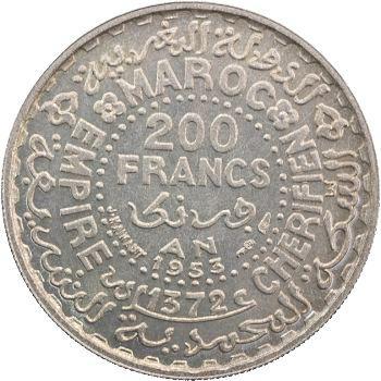Maroc, IVe République, Mohammed V, essai de 200 francs, 1953/1372, Paris