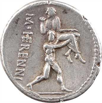 Herennia, denier, Rome, 108-107 av. J.-C.