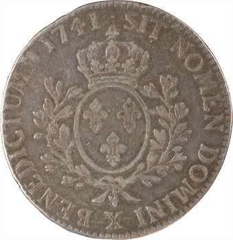 Louis XV, écu au bandeau, 1741 Amiens