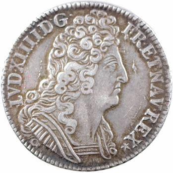 Louis XIV, quart d'écu aux trois couronnes, 1709 Paris