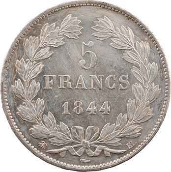Louis-Philippe Ier, 5 francs IIIe type Domard, 1844 Strasbourg