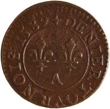 Henri III, denier tournois, 1589 Paris