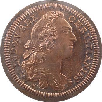 Amérique, Canada, Louis XV, jeton, les deux hémisphères, 1753 (refrappe) Paris
