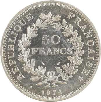 Ve République, 50 francs Hercule avers du 20 francs, 1974 Pessac