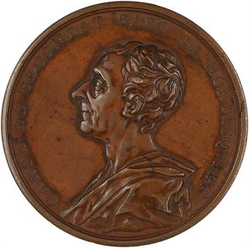 Louis XV, Montesquieu, par Jacques Antoine Dassier, 1753 Genève