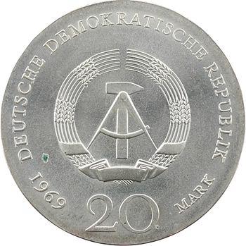 Allemagne (République Démocratique d'), 20 mark, 240ème anniversaire de la naissance de Goethe, 1969