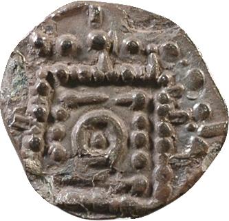 Frise, Région du Rhin ou Frise, denier ou sceatta au porc-épic, s.d. (c.700-740)