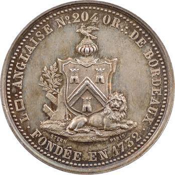 Orient de Bordeaux, loge anglaise, en argent, par Stern, s.d. (1860-1879) Paris