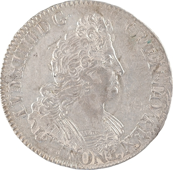 Louis XIV, demi-écu aux huit L, 2e type, 1704 Paris