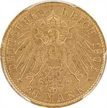 Allemagne, Brême (ville libre de), 20 mark, 1906 Hambourg, PCGS MS64+