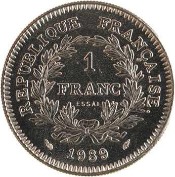 Ve République, essai de 1 franc États Généraux, 1989 Pessac