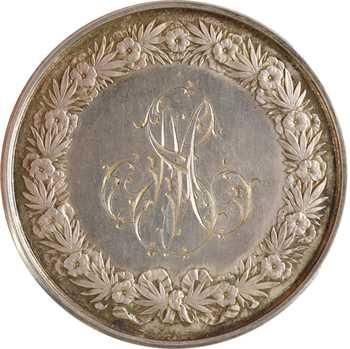 IIIe République, médaille de mariage, par Domard, 1890 Paris