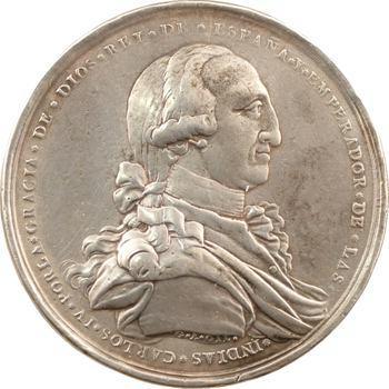Mexique, Charles IV, médaille de proclamation, 1789 Mexico