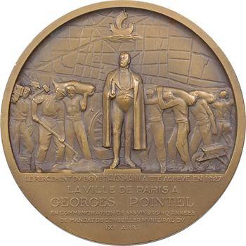 IIIe République, hommage à Georges Pointel (percement du boulevard Haussmann), par Cogné, 1934 Paris