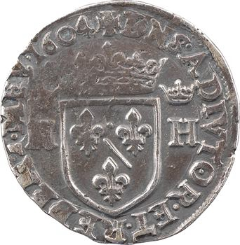 Dombes (principauté de), Henri II, teston, 1604 Trévoux