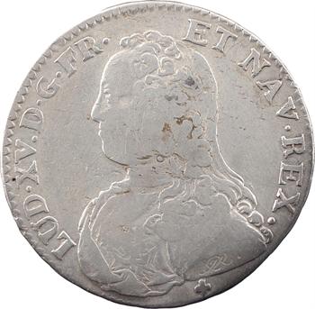Louis XV, demi-écu aux rameaux d'olivier, 1726 Troyes