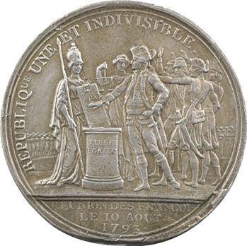 Convention, fête du 10 août 1793, fonte de Dupré, 1793 Paris