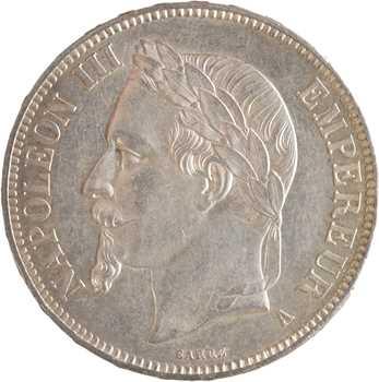 Second Empire, 5 francs tête laurée, 1869 Paris