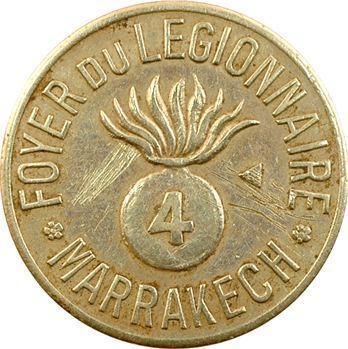 Maroc, Marrakech, 1 franc, Foyer du légionnaire de Marrakech, s.d