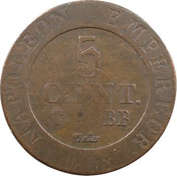 Premier Empire, 5 centimes Strasbourg, 1808 Strasbourg
