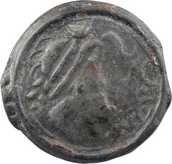 Parisii, potin au cheval, c.50 av. J.-C