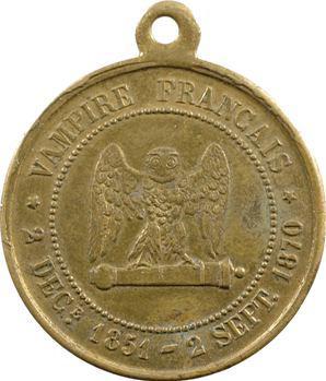 Guerre de 1870, Napoléon III, cinq centimes SEDAN, 1870