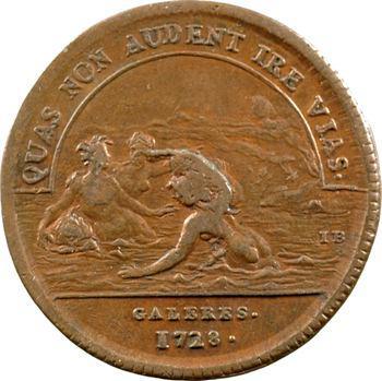 Galères, le chevalier d'Orléans, général, 1728