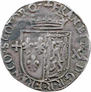 François II, teston d'argent frappé en Écosse, 1560 Édimbourg