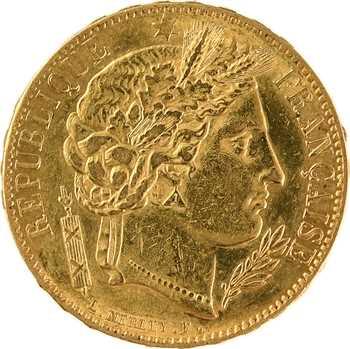 IIe République, 20 francs Cérès, 1851 Paris
