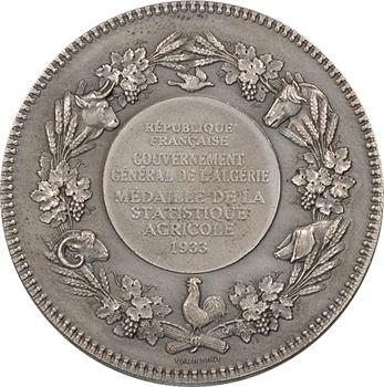 Algérie, Gouvernement général, statistique agricole, 1933 Paris